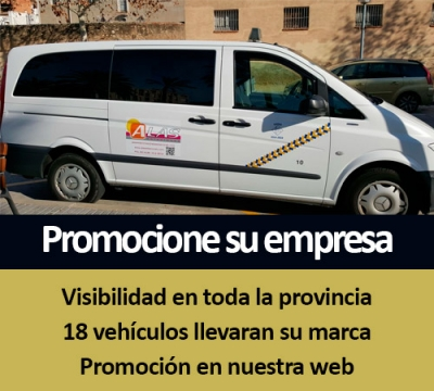Taxi advertising promotion companies and SMEs Tarragona - Reus - Vilaseca